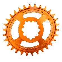 Burgtec převodník Oval GXP Boost 3mm Offset Thick Thin - 32T - Iron Bro Orange