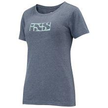iXS triko Brand Logo dámské marine-celeste