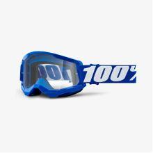 100% brýle motokrosové STRATA 2 Goggle Blue - Clear Lens