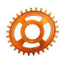 Burgtec převodník Oval Cinch Thick Thin - 32T - Iron Bro Orange