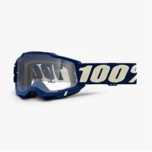 100% brýle motokrosové ACCURI 2 Goggle Deepmarine - Clear Lens