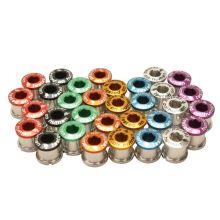 SHAMANRACING šrouby do převodníku 5mm, 4ks fialové