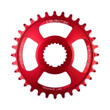 Burgtec převodník Shimano Direct Mount Thick Thin - 28T - Race Red