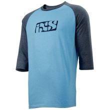 iXS triko Brand Logo 3/4 rukáv light blue-night blue XL
