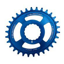 Burgtec převodník Oval Cinch Thick Thin - 32T - Deep Blue