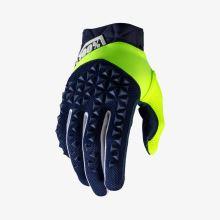 """100% rukavice """"AIRMATIC"""" Navy/Yellow"""