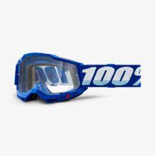 100% brýle motokrosové ACCURI 2 Goggle Blue - Clear Lens