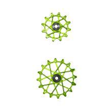 GARBARUK kladky přehazovačky SRAM Set 12z + 14z Green