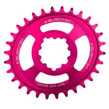 Burgtec převodník Oval GXP Boost 3mm Offset Thick Thin - 32T - Toxic Barbie Pink