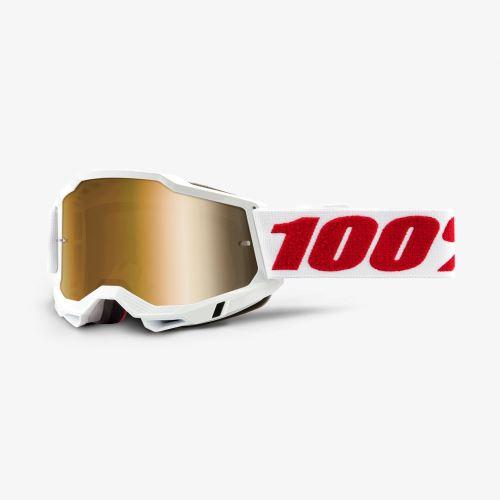 100% brýle motokrosové ACCURI 2 Goggle Denver - True Gold Lens