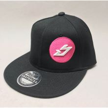 BIKESTRIKE.COM kšiltovka Logo snapback černá/růžová
