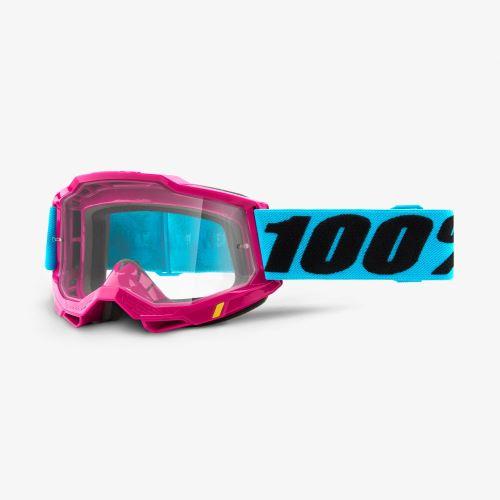 100% brýle motokrosové ACCURI 2 Goggle Lefleur - Clear Lens
