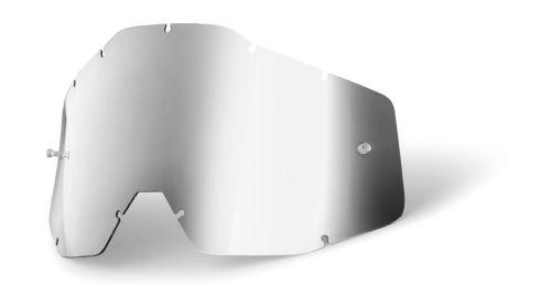 100% dětské náhradní sklo Accuri JR, Anti-fog, stříbrné zrcadlové