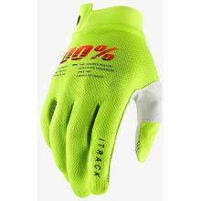"""100% rukavice """"iTRACK"""" Fluo Yellow"""