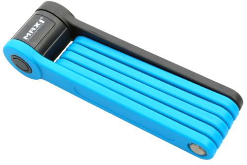 MAX1 skládací zámek Bull 850mm modrý s držákem
