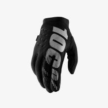 """100% dětské rukavice """"BRISKER"""" Black/Grey S"""
