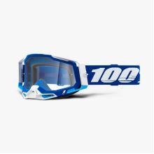 100% brýle motokrosové RACECRAFT 2 Goggle Blue - Clear Lens