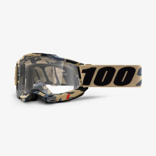100% brýle motokrosové ACCURI 2 Goggle Tarmac - Clear Lens