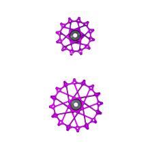 GARBARUK kladky přehazovačky Shimano Set 11z + 16z Violet