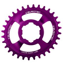 Burgtec převodník Oval Hope Boost Direct Mount Thick Thin - 30T - Purple Rain