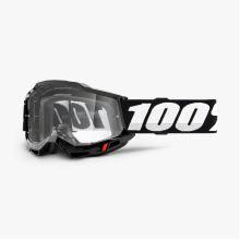 100% brýle motokrosové ACCURI 2 Goggle Black - Clear Lens