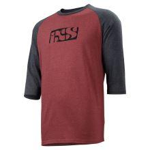 iXS triko Brand Logo 3/4 rukáv night red-black XL