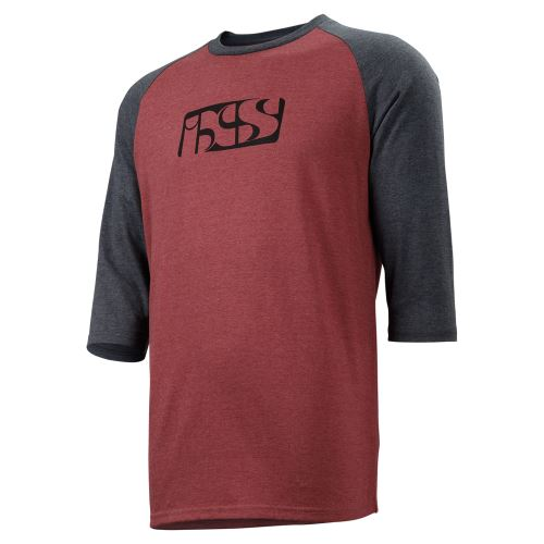 iXS triko Brand Logo 3/4 rukáv night red-black
