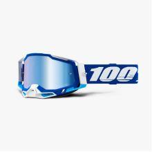 100% brýle motokrosové RACECRAFT 2 Goggle Blue - Mirror Blue Lens