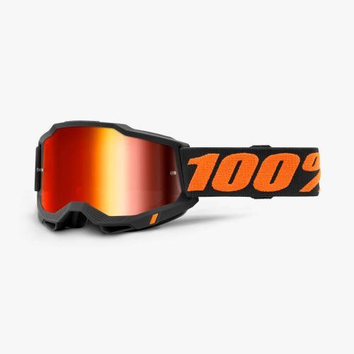 100% brýle motokrosové ACCURI 2 Goggle Chicago - Mirror Red Lens