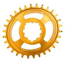 Burgtec převodník Oval GXP Boost 3mm Offset Thick Thin - 30T - Burgtec Bullion Gold