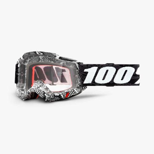 100% brýle motokrosové ACCURI 2 Goggle Cobra - Clear Lens