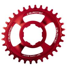 Burgtec převodník Oval Hope Boost Direct Mount Thick Thin - 30T - Race Red