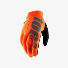 """100% dětské rukavice """"BRISKER"""" Fluo Orange/Black"""