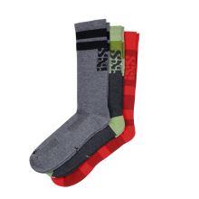 iXS ponožky Triplet socks (3-pack) multicolor S