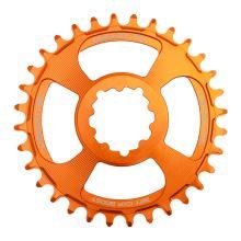 Burgtec převodník GXP Boost 3mm Offset Thick Thin - 30T - Iron Bro Orange