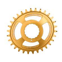 Burgtec převodník Oval Cinch Thick Thin - 32T - Burgtec Bullion Gold